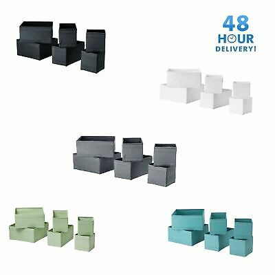 Ikea Skubb set of 6 drawer organiser storage boxes wardrobe 3 colours