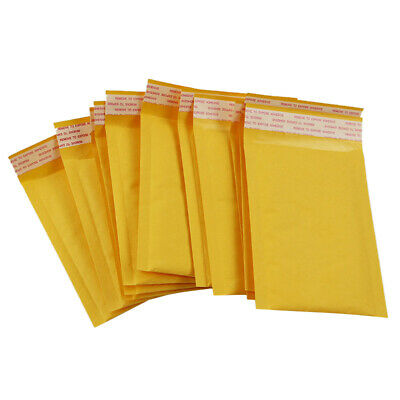 10x Bubble Mailers Padded Envelopes Packaging Shipping Bags Kraft Bubble Ma O8J6