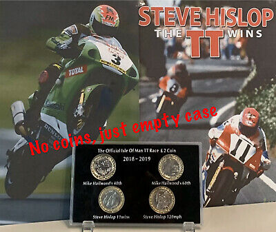2018 - 2019 Isle of Man TT Race £2 coin Display Case Hislop & Hailwood (NO COIN)