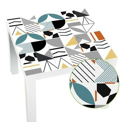 Geometric Tile Lack Table Tops Wall Art Furniture Removable Self-Adhesive W C8P9