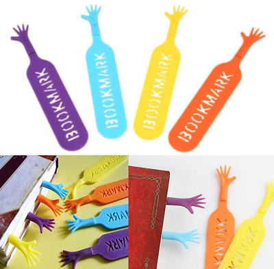 4pcs Help Me Hand Novelty Bookmarks Page Markers Gift Set UK Stock Free P&P