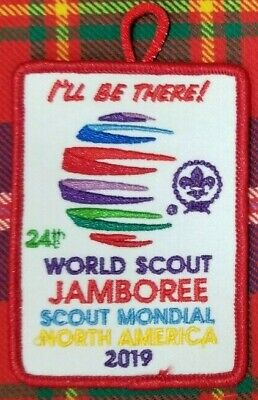 "2019 24th WORLD SCOUT JAMBOREE  PROMOTIONAL  ""I'LL BE THERE!"" PATCH"