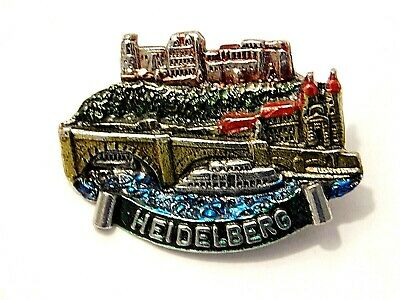 Vintage German Bavarian Octoberfest Hat Pin Brooch - HEIDELBERG
