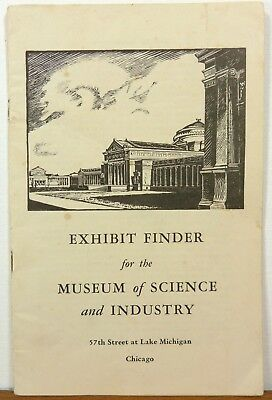 1950's Chicago Illinois Musuem of Science and Industry map guide Exhibit Finder