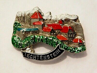 Vintage German Bavarian Octoberfest Hat Pin Brooch - LIECHTENSTEIN