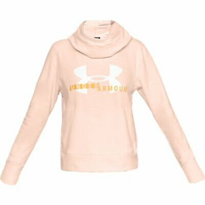UNDER ARMOUR Damen Hoodie Rival Fleece Logo - rosa