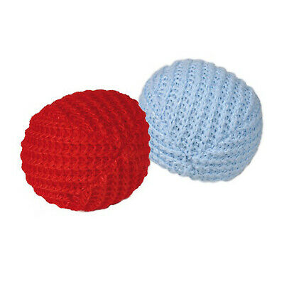 Trixie Set Of 2 4.5cm Knitted Catnip Filled Plush Balls Cat Toy