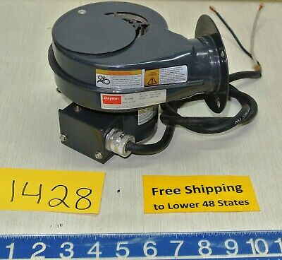 "Dayton Electric Blower # 1TDN8 w Motor 1/25 HP 230 V 2700/3080 RPM 3"" Wheel Diam"