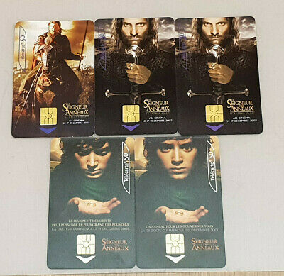 Phonecard 50 Units Telephone Lot x5 Theme the Lord of Rings