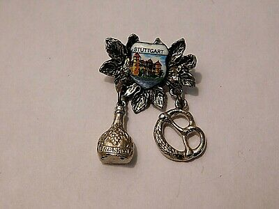 Vintage German Bavarian Octoberfest Hat Pin Brooch - STUTTGART