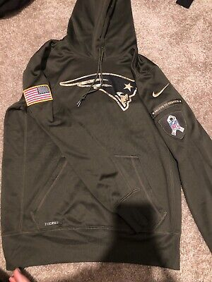 sale retailer a2146 7abb1 NEW ENGLAND PATRIOTS Nfl 2018 Nike Salute To Service Hoodie ...