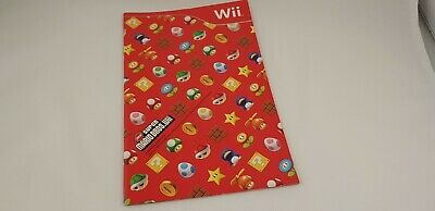 * Nintendo Wii * New Super Mario Bros. Wii * Manual ONLY! * PAL *