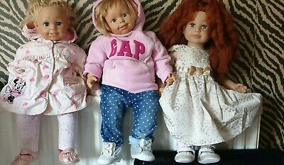 3x Molly and friends doll with cot bed and clothes