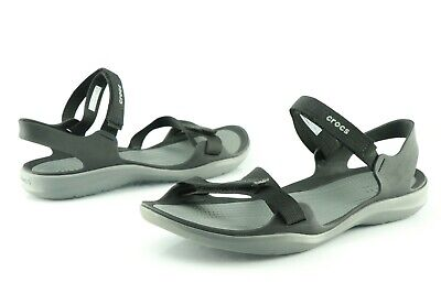 CROCS WOMENS SWIFTWATER Cross Strap Static Shoes $43.99