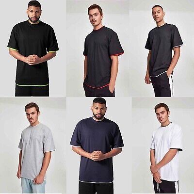 Urban Classics Herren T-Shirt basic Oversize Normal Contrast Tall Tee