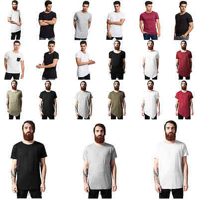 Urban Classics Herren T-Shirt basic Oversize Normal Long Back Shaped Slub Tee