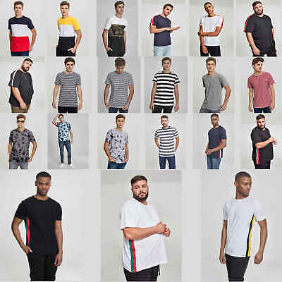 Urban Classics Herren T-Shirt print Muster Thema Color Block Tee