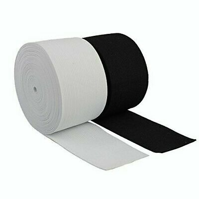 50Mm / 2Inch Wide Flat Elastic Black Or White Strong Woven Dressmaking Sewing
