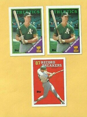 1988 Topps Mark Mcgwire Baseball Card 580 Mint Oakland Athletics