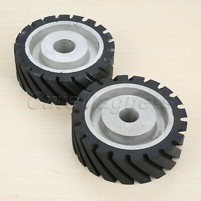 1PC Contact Abrasive Belt Wheel Rubber Polishing Buffing Grinding Rotary Tool