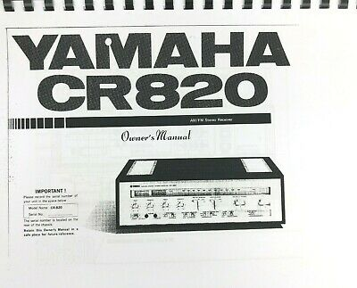 YAMAHA CR-820  RECEIVER OWNERS  MANUAL FREE SHIPPING