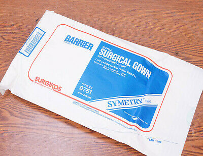 Lot of 25 Surgikos Barriel Sterile Surgical Gown 0751 with Simetry Fabric
