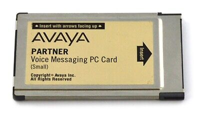 Avaya Partner ACS Small Voice Messaging PC Card Voicemail 2 Ports 4 Mailboxes