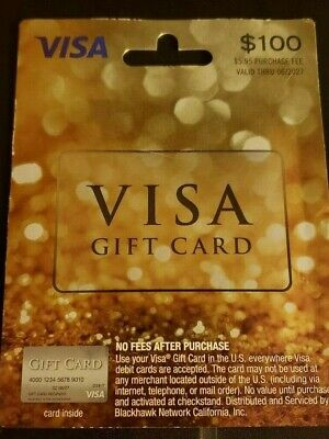 $100 GIFT CARD ACTIVATED No Fees After Purchase. Non Reloadable. Benefit Student