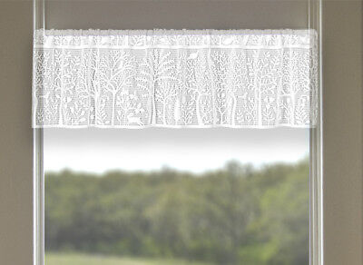 Heritage Lace RABBIT HOLLOW Valance 60x15 WHITE Made in USA