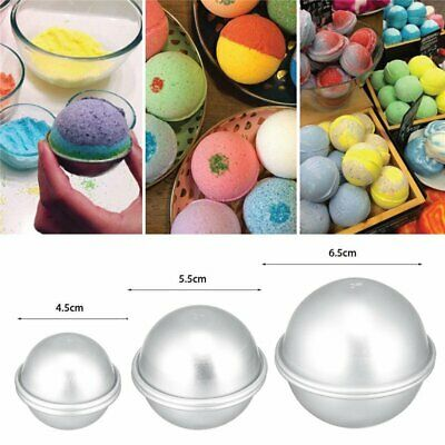Ball Aluminum Semicircle Sphere Bath Bomb Cake Pan Mold Baking Pastry Mould