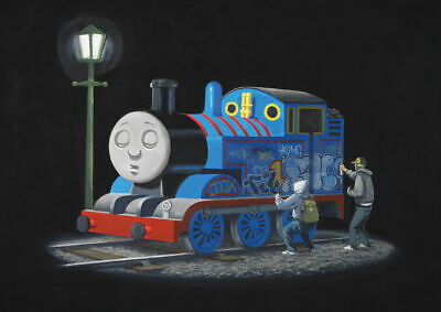Banksy Thomas The Tank Engine Art Print Poster Framed Or Unframed