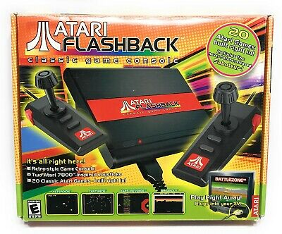 Atari Flashback Classic Game Console Mini 7800 Complete Two Controllers Tested