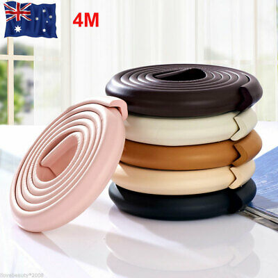 4M Foam Rubber Bumper Strip Safety Table Edge Corner Protectors For Baby Kids