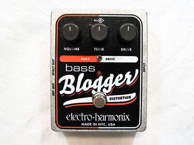 Used Electro-Harmonix EHX Bass Blogger Distortion/Overdrive Bass Effects Pedal