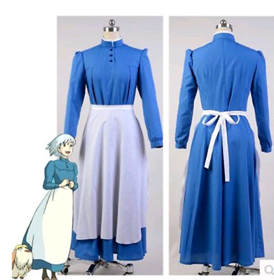 Anime Howl's Moving Castle Sophie Cosplay Costume Custom Made