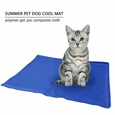 40*50cm Pet Cooling Mat Dog Pad Cat Gel Summer Cooler Comfort ice pad Blue