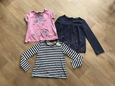 Girls Top Bundle NEXT Age 4-5 Years Fatface Short Long Sleeved Dog Striped VGC