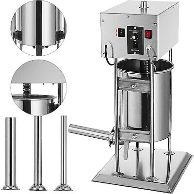 12L Electric Sausage Filler Stuffer Salami Filling Machine Stainless Steel