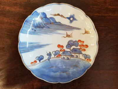 koi3.7 Plate porcelain antique Japanese Imari ware late Meiji 19th century