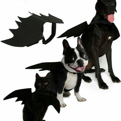 Halloween Black Bat Wings For Dog Cat Pet Cosplay Fancy Party DIY Decor Supplies