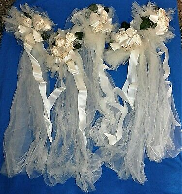 Vintage Handmade Silk Wedding Bouquets BULK LOT (5)