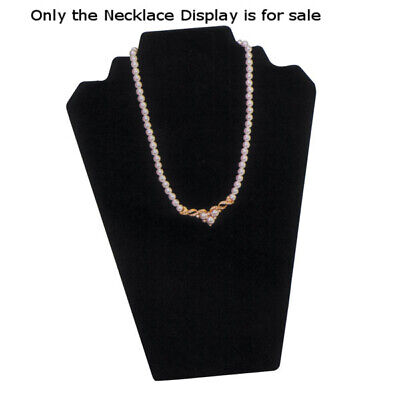 Velvet Necklace Display in Black - 8.25 W x 12.50 H Inches