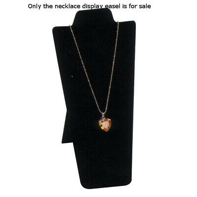 Velvet Necklace Display Easel in Black - 4.25 W x 8.87 H Inches