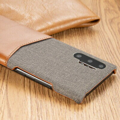 For Samsung Galaxy Note 10 Plus S10 S9 Leather Card Slot Pocket Slim Case Cover