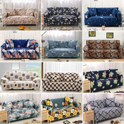 1/2/3/4 Seater Sofa Cover Stretch Protector Couch Anti-Slip Elastic Slipcover UK