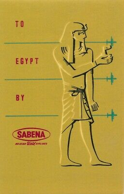 Étiquettes à bagages - Sabena - To Egypt by Sabena