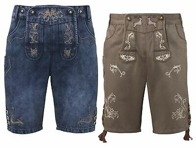 Men's Costume Trousers Traditional Jeans Trachtenshorts Oktoberfest short Wiesn