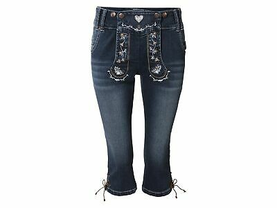Ladies Costume Trousers Traditional Jeans Trachtenshorts Oktoberfest short Wiesn