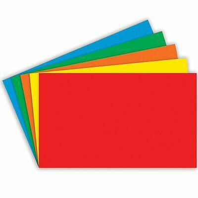 Flash Cards Bright Intense Pack of 250 pieces in 5 Different Colours - Size A7