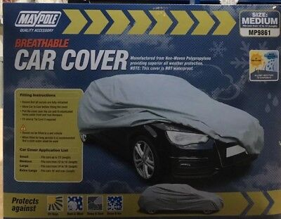 Maypole Mp9961 Breathable Car Cover Medium Cars From 13' To 14' Length